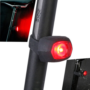 SAHOO 71392 Red LED Bicycle Tail Lights IPX4 Waterproof 3 Modes USB Charging Warning Flashlight