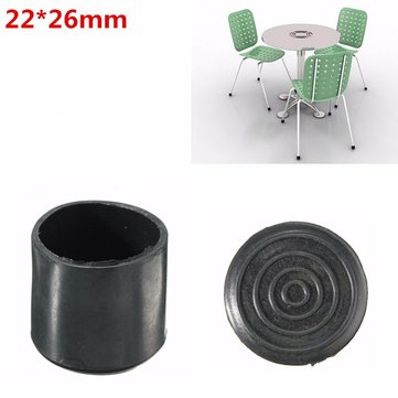 Black Chair Ferrules Furniture Leg Protection Rubber