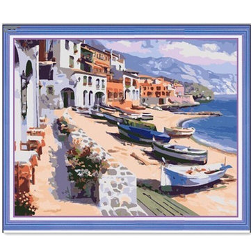 Buy Harbor DIY Oil Painting By Numbers Digital Oil Drawing Kits Frameless Canvas Wall Decor Gift 40x50cm for $9.99 in Banggood store