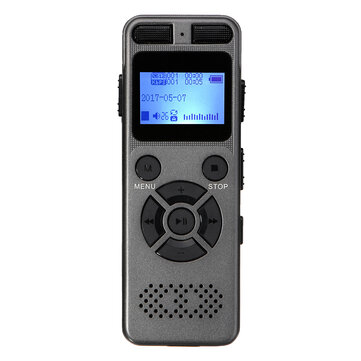 8GB Rechargeable LCD Digital Audio Sound A to B Repeat Voice Recorder Dictaphone