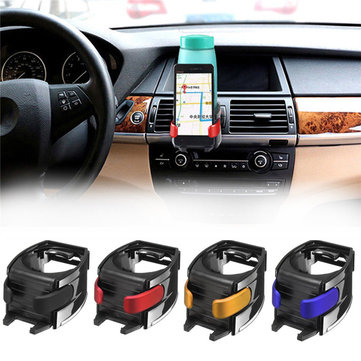 Universal 2 in 1 Bottle Cup Car Mount Air Vent Phone Holder Stand for iPhone Xiaomi Huawei Nubia