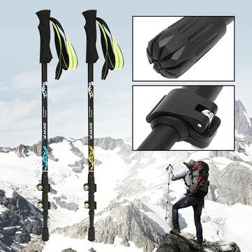Xmund XD-TK1 3-секционное Углеродное волокно Регулируемые трости Восхождение на походы Палка Треккинг Полюс Alpenstock