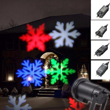 Waterproof Moving Colorful Snowflake Laser Projector Stage Light Christmas Outdoor Landscape Lamp