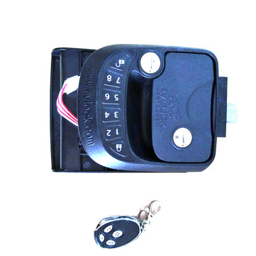 Car Keyless Entry System Door Lock Latch Handle Knob Deadbolt RV Camper Trailer Black