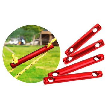 IPRee® 6Pcs/set Aluminum Alloy Outdoor Camping Tent Wind Rope Stick Stopper Buckle Cord Accessories