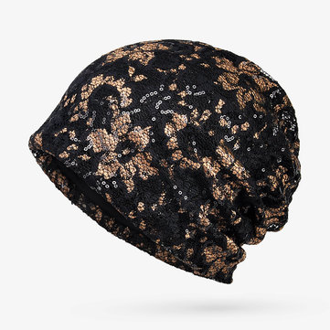 Printting Turban Classic Double Layers Beanie Hat