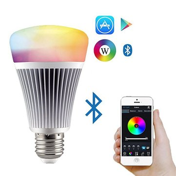 E27 8W Mi.Light RGB+CCT Bluetooth App Control Dimmable LED Smart Light Bulb AC85-265V