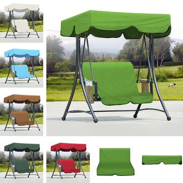 Original JardínalairelibreBancode hamaca Hamaca Canopy Impermeable Cubierta superior Sombrilla + Cubierta de silla de 2 plazas
