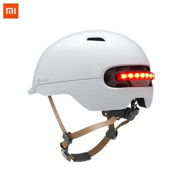 XIAOMI Smart4U Upgraded SH50 Bike Bicycle Smart Helmet Light Sensing Braking Warning LED Breathable Cycling Helmet