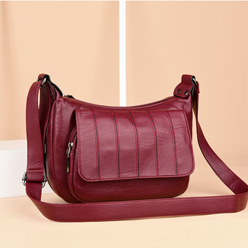 Women Soft Leather Leisure Crossbody Bags Messenger Bags