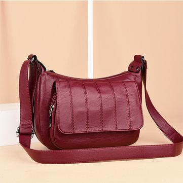Women Soft Leather Leisure Crossbody Bags Messenger Bags