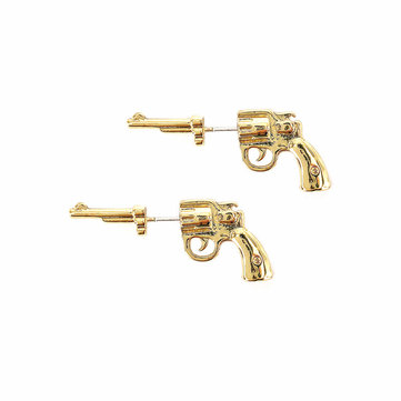 Punk Unisex 925 Sterling Silver Gun Stud Earrings