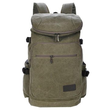 Mens Fashion Large Capacity Backpack Canvas Schoolbag