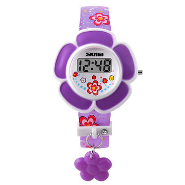 SKMEI 1144 Children Girl Flower Watch Kid LED Digital Cartoon Wristwatch