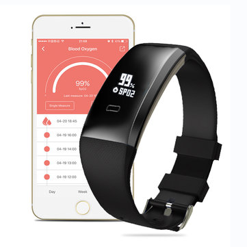 WP101 OLED Blood Pressure SpO₂ Heart Rate Health Sport Tracker Smart Watch Bracelet Android IOS