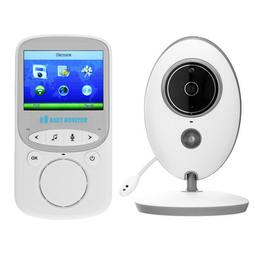 Wireless Baby Monitors 2.4GHz Color LCD Audio Talk Night Vision Video Temperature Music Player