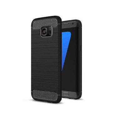 Bakeey Carbon Fiber Anti Fingerprint Soft TPU Case For Samsung Galaxy S6