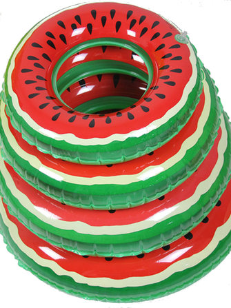 Plus Size Pool Float Watermelon Life Buoy Thickening Inflatable Swimming Ring