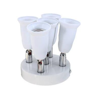 AC100-240V Adjustable 5 in 1 4A E27 E26 Bulb Base Socket Adapter Lamp Holder for Ceiling Light