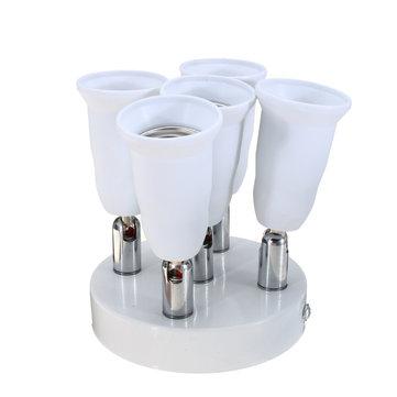 AC100-240V Adjustable 5 in 1 4A E27 E26 Bulb Base Socket Adapter Lamp Holder for Ceiling Light