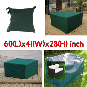 152x104x71cm Garden Outdoor Furniture Waterproof Breathable Dust Cover Table Shelter