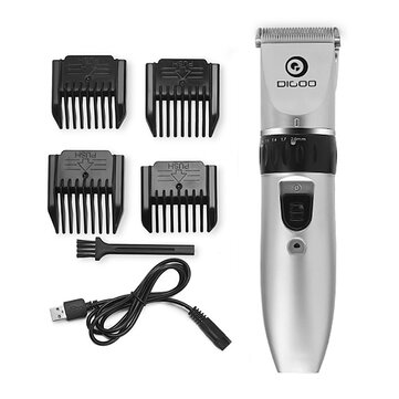[ 2019 Third Digoo Carnival ] Digoo BB-T1 USB Ceramic R-Blade Hair Trimmer Rechargeable Hair Clipper 4X Extra Limiting Comb Silent Motor for Children Baby Men