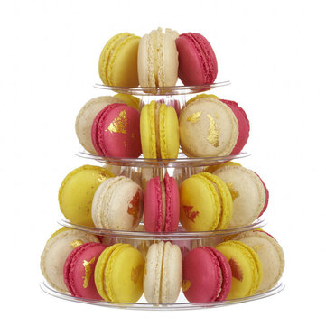 4 Tier Macaron Tower Display Stand for French Macarons Decorations Baking Stand