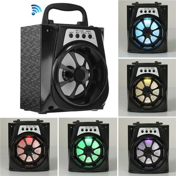 MS-133BT Portable LED Bluetooth Wireless USB/TF/AUX/FM Radio Stereo Outdoor Speaker