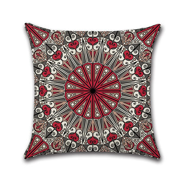 Mandala Middle East Armenia India Oriental Bliss Flower Arabesque Cushion Cover Sofa Pillow Case