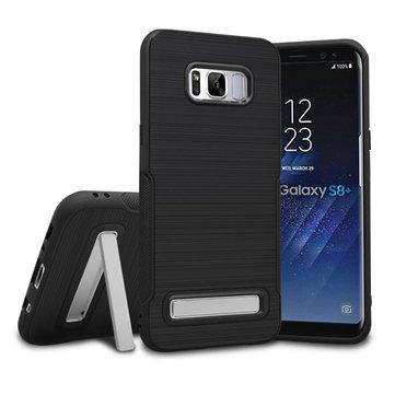 Finitura spazzolata Cassa pieghevole per Kickstand per Samsung Galaxy S8