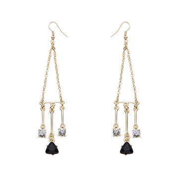 JASSY® Balance Style Zircon Crystal Ear Drop Dangle Fashion Women Jewelry Anallergic Gift