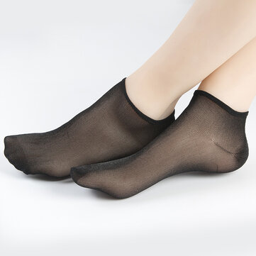 Women Casual Breathable Solid Color Shallow Socks