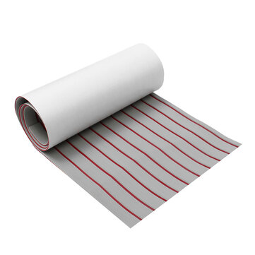 Upgrade Self Adhesive EVA Foam Synthetic Teak Deck Boat Sheet Grey+Red Line 5mm Thickness