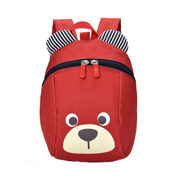 Children's Little Bear Backpack Nylon Cloth Anti-Lost Waistband Kids Bag