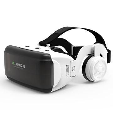 VR Shinecon SC-G06E Caixa fone de ouvido Realidade Virtual 3D VR Óculos com fone de ouvido para celular