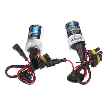 Pair 9006 55W HID Xenon Car Headlights Fog Lamps Bulbs Conversion Kit with Ballast 4300K-10000K