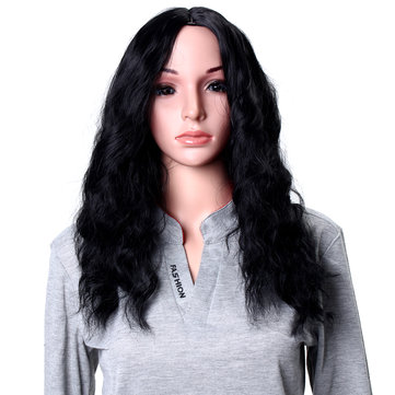 Black Synthetic Wig Heat Resistant
