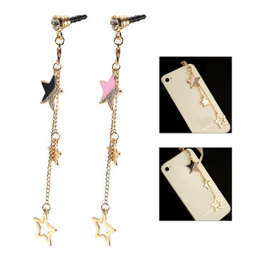 Universal 3.5mm Stars Decoration Dirtproof Plug for Samsung Xiaomi HUAWEI