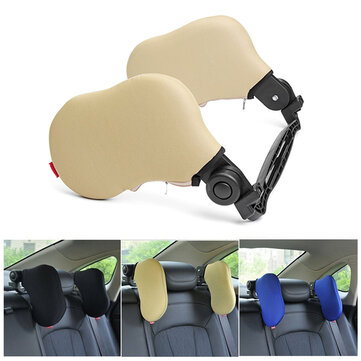 Outdoor Car Seat Headrest Memory Foam Pillow Head Neck Rest Support Cushion