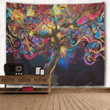 Tapestry Wall Hanging Psychedelic Tree Tapestries Bedspread Home Decoration