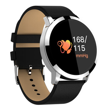 25% OFF For Newwear Q8  OLED Blood Pressure Heart Rate Smart Watch