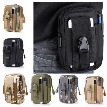 IPRee® 5.5 Inch Outdoor EDC Tactical Molle Waist Bag Pack Men Cell Phone Case Wallet Pouch Holder For iphone 8 Xiaomi Camping Hiking