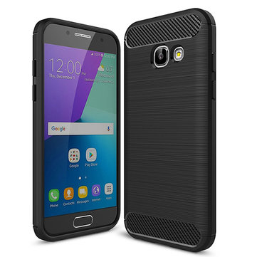 Bakeey™ Carbon Fiber Brushed Dissipating Heat Soft TPU Case for Samsung Galaxy A3 A5 A7 2017