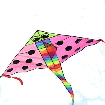 Cometas de ocio al aire libre de color rosa de dibujos animados peces mosca de la cometa fácil para los niños