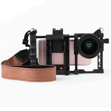 Pholes 007 2 in 1 37MM Wide Angle Lens Macro Rig Stabilizer for Mobile Phone
