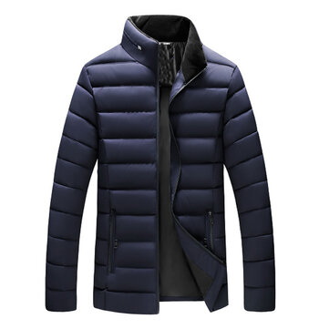Mens Thick Warm Outdoor Light Padded Jacket Insulated Coat