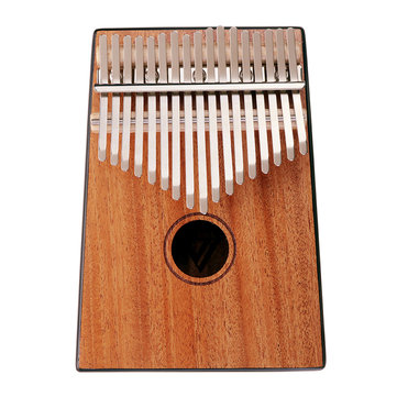 Jonas 17 Keys Mahogany Wood Kalimba African Thumb Piano Mini Keyboard Instrument
