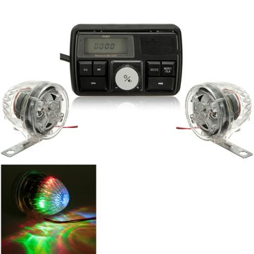 Anti Theft Motorcycle Bike Audio Stereo Amplifier MP3 USB SD FM Speakers