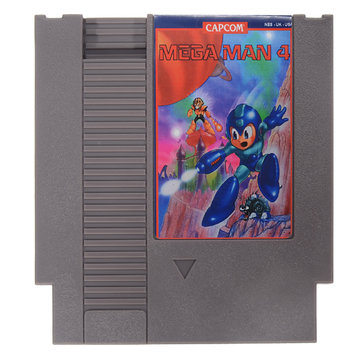 Mega Man 4 72 Pin 8 Bit Game Card Cartridge for NES Nintendo