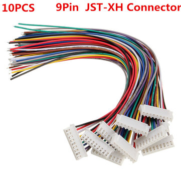 10PCS 9Pin 8S Terminal Wire Balance Charger Male/Female JST-XH Connector Wire